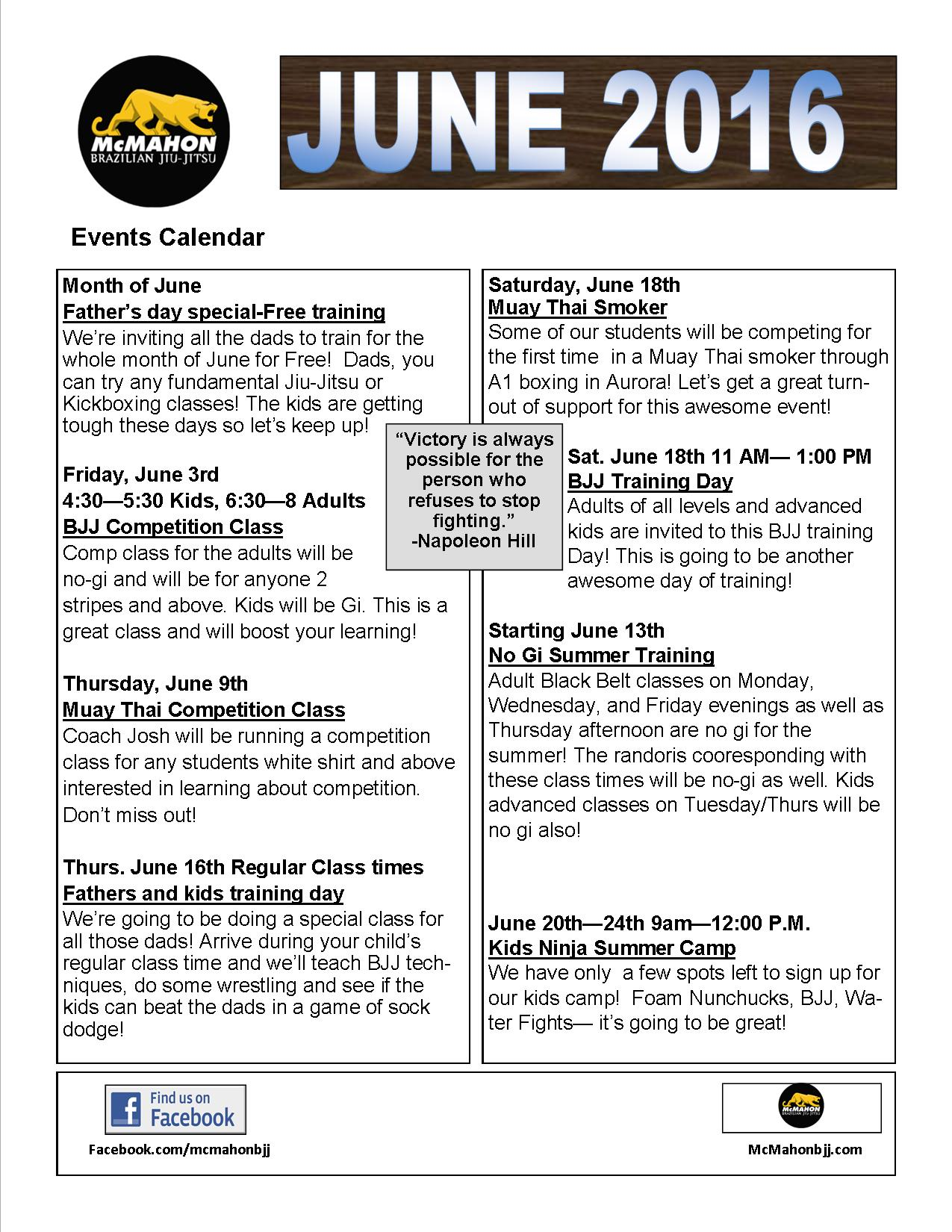 June  2016 events jpg
